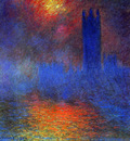 Monet Claude London Parliament Sun