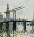 Monet Claude Rapenburgwal with Montelbaanstoren Sun
