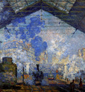 Monet Claude Saint Lazare station Sun