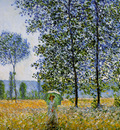 Monet Claude Sunlight effect poplars Sun
