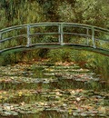 Monet Claude The Japanese bridge Sun