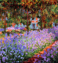 monet claude the artists garden sun