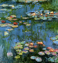 Monet Claude Water lillies Sun