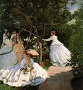 monet claude women in the garden sun