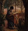 Monet La femme au metier