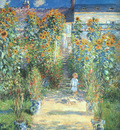 Monet The Artists Garden at Vetheuil, 1880, oil on canvas,