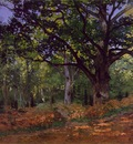 monet the bodmer oak, fontainebleau forest, 1865, 96 2x129