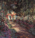 Monet The Garden in Flower, 1900, oil on canvas, private col