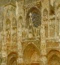 Monet The Rouen Cathedral, le portail, temps gris