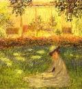 Monet Woman Sitting in a Garden