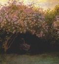 monet lilacs overcast weather
