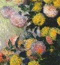 monet vase of dahlias