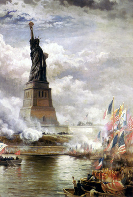 moran edward unveiling the statue of liberty