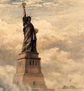 JLM 1886 Edward Moran Statue of Liberty Enlightening the Wor