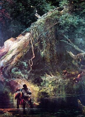 jlm 1863 thomas moran slaves escaping through the swamp