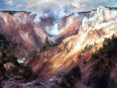 JLM 1893 Thomas Moran Grand Canyon of Yellowstone