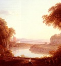 More Jacob An Italianate Landscape With Figures And Donkeys In The Foreground