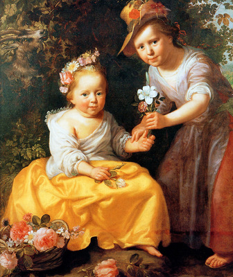Moreelse Paul Portrait of two children Sun