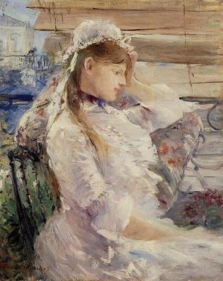 Morisot Berthe Behind the Blinds