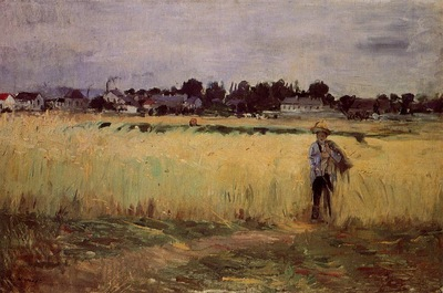Morisot Berthe In the Wheat Fields at Gennevilliers