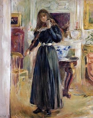 Morisot Berthe Julie Playing a Violin