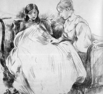 Morisot Berthe The seamstress Sun