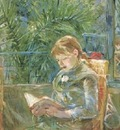 morisot girl reading