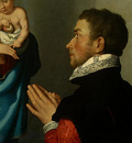 moroni,g b  a gentleman in adoration before the madonna, c