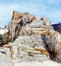 Muller William James The rock staircase of Tlos Sun