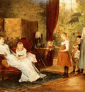 Munkacsy Mihaly The Fete Of The Lady Of The Manor