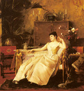Munkacsy Mikaly A Portrait Of The Princess Soutzo