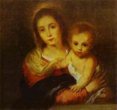 Bartolome Esteban Murillo Madonna with a Napkin