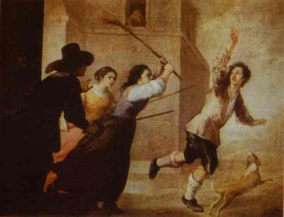 Bartolome Esteban Murillo The Prodigal Son Driven Out