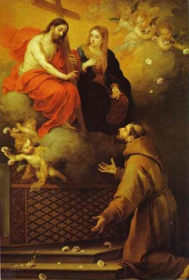 Bartolome Esteban Murillo The Vision to St  Francis at Porziuncola