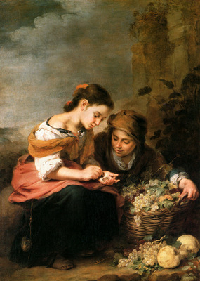 Murillo Bartoleme The little fruit merchant Sun