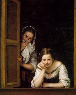 Murillo Two Women at a Window ca 1670, NG Washington