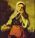 Bartolome Esteban Murillo A Girl with Fruits