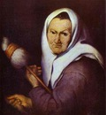 Bartolome Esteban Murillo Old Woman with a Distaff