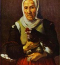 Bartolome Esteban Murillo Old Woman with a Hen
