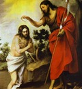 Bartolome Esteban Murillo The Baptism of Christ