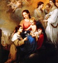 Murillo, Bartolome Esteban The Virgin and Child with St Rosalina end