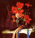 Murillo Jose Maria Bracho y Still Life With Mandolin And Castagnets