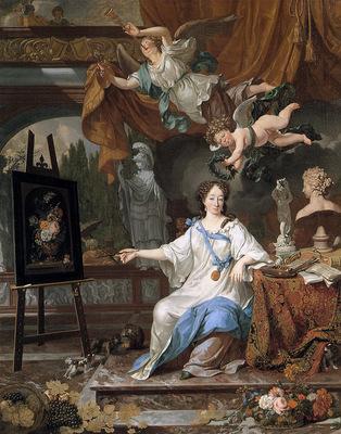 Musscher van Michiel Allegoric portrait of an artist Sun