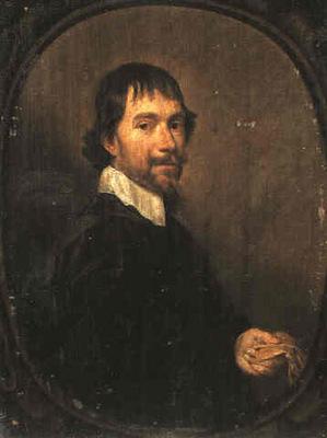 Mytens Jan A Portrait of a Man Holding a Glove