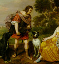 Mytens Jan Portrait histoire of a young man and lady as Meleager and Atalanta