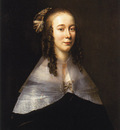 Mytens Jan Portrait of a lady wearing a black dress and a white collar