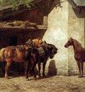 Nakken Willem Karel Horses at the blacksmith Sun