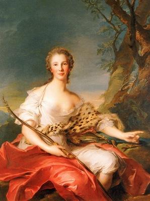 Nattier, Jean Marc Madame Bouret as Diana end