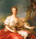 Nattier, Jean Marc Madame Bouret as Diana end