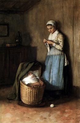 Neuhuys Johannes Albert Mother and her child Sun